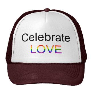 Celebre el amor gorras