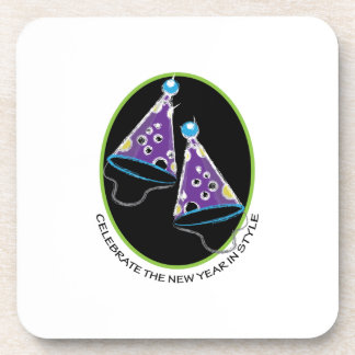 Celebre el Año Nuevo Posavasos De Bebida