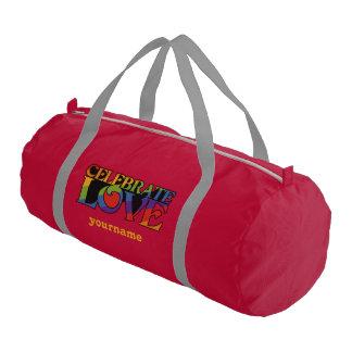 Celebre el bolso de encargo del gimnasio del bolsa de deporte