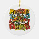 Celebre el collage de Kwanzaa Ornatos