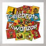 Celebre el collage de Kwanzaa Posters