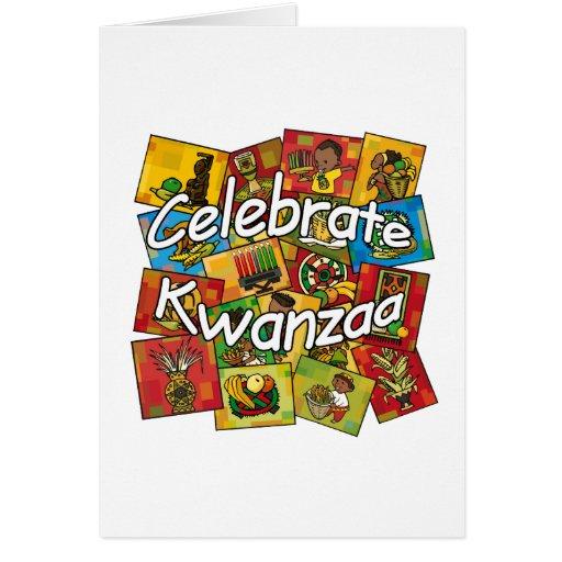 Celebre el collage de Kwanzaa Tarjetas