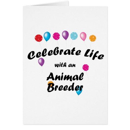 Celebre el criador animal tarjetón