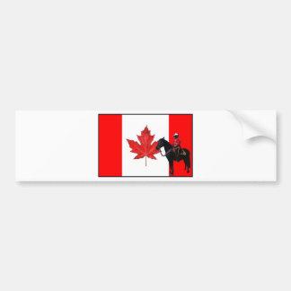 Celebre el día de Canadá Pegatina De Parachoque
