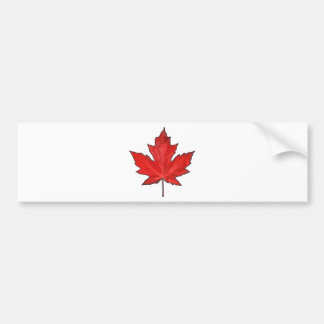 Celebre el día de Canadá Etiqueta De Parachoque