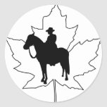 Celebre el día de Canadá Etiqueta Redonda