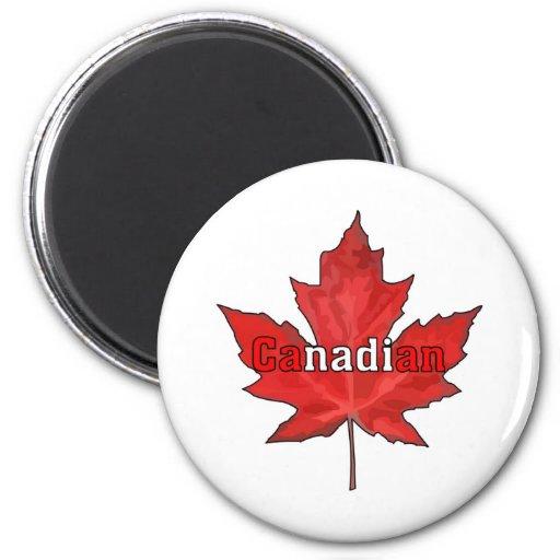 Celebre el día de Canadá Imán Redondo 5 Cm