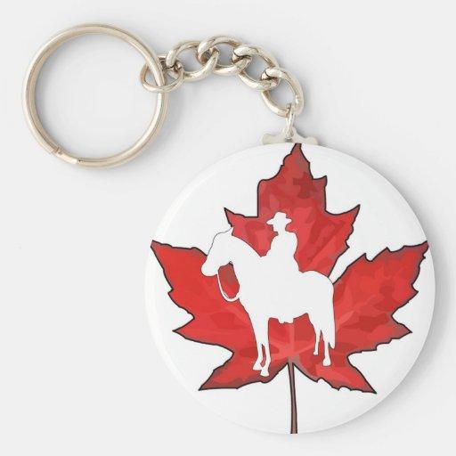 Celebre el día de Canadá Llavero Redondo Tipo Pin