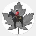 Celebre el día de Canadá Pegatina Redonda