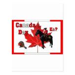 Celebre el día de Canadá Postales