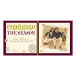 Celebre el día de fiesta del copo de nieve de la e tarjeta fotográfica
