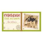 Celebre el día de fiesta del copo de nieve de la e tarjetas fotográficas personalizadas