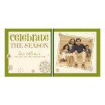 Celebre el día de fiesta del copo de nieve de la e tarjetas personales