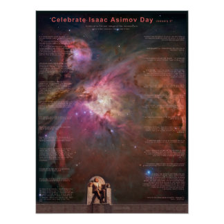 Celebre el día de Isaac Asimov Póster