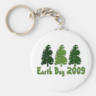Celebre el Día de la Tierra 2009 Llavero Redondo Tipo Pin