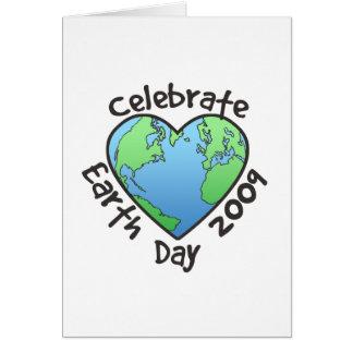 Celebre el Día de la Tierra 2009 Tarjeta