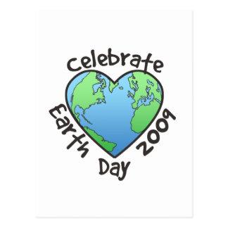 Celebre el Día de la Tierra 2009 Tarjeta Postal