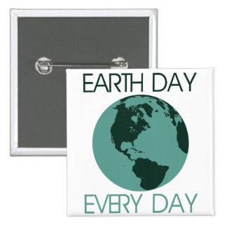 Celebre el Día de la Tierra cada día Chapa Cuadrada 5 Cm