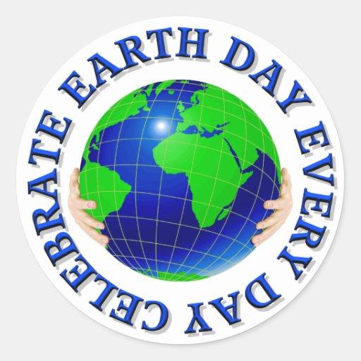 Celebre el Día de la Tierra los pegatinas de cada