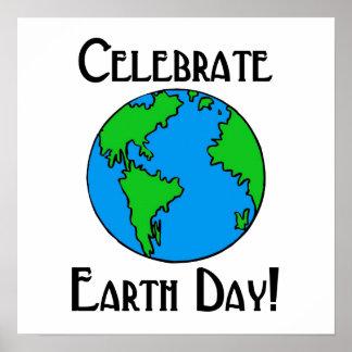 Celebre el Día de la Tierra Impresiones
