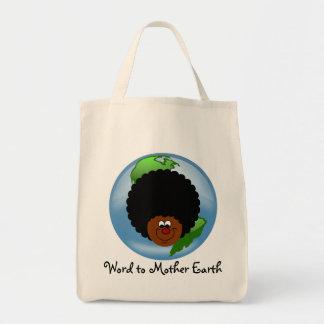 Celebre el Día de la Tierra: Palabra a su madre ti Bolsa De Mano