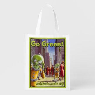 Celebre el Día de la Tierra, vaya verde, bolso de  Bolsa Para La Compra