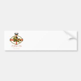 Celebre el día de San Jorge orgulloso ser retro in Etiqueta De Parachoque