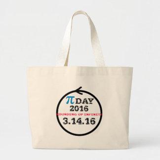Celebre el día del pi bolsa tela grande