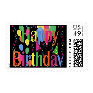 Celebre el feliz cumpleaños sellos