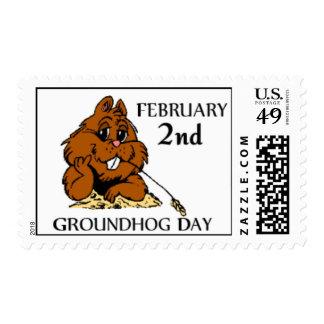 Celebre el franqueo del día de la marmota estampillas