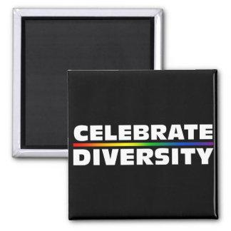 Celebre el imán negro de la diversidad