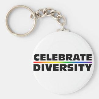 Celebre el llavero de la diversidad