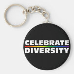 Celebre el llavero negro de la diversidad