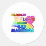 Celebre el matrimonio homosexual de la Amor-Ayuda Etiquetas Redondas