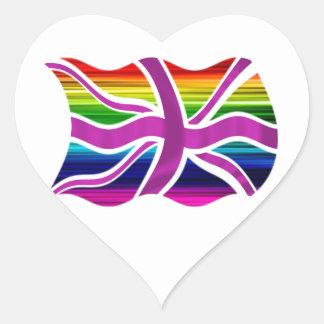 ¡Celebre el matrimonio homosexual legal en el Pegatina En Forma De Corazón