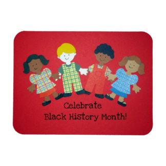 ¡Celebre el mes negro de la historia! Imán Flexible