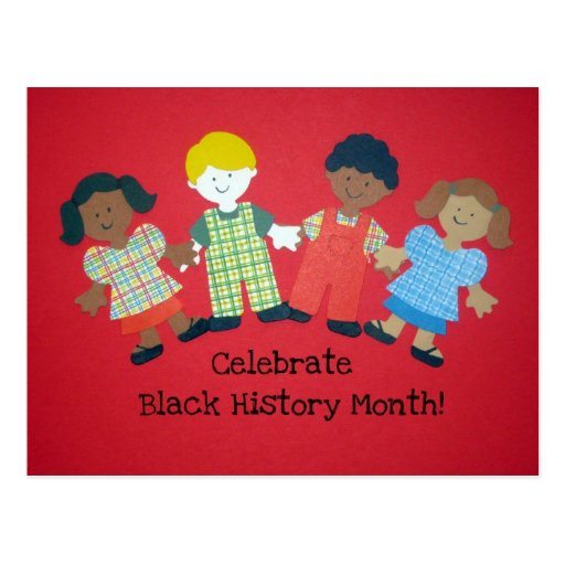 Celebre el mes negro de la historia postales