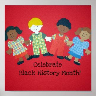 ¡Celebre el mes negro de la historia! Póster