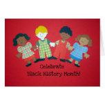 Celebre el mes negro de la historia tarjeta de felicitación