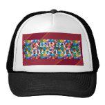 Celebre el NAVIDAD:  Alegría colorida loca de la P Gorra