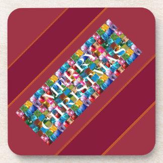 Celebre el NAVIDAD Alegría colorida loca de la P Posavaso