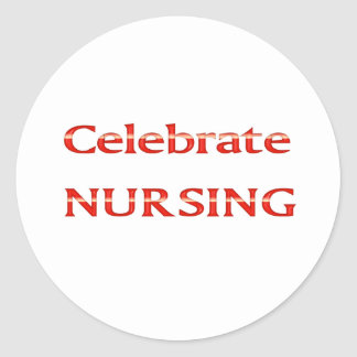 Celebre el oficio de enfermera pegatina redonda