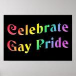 Celebre el orgullo gay posters