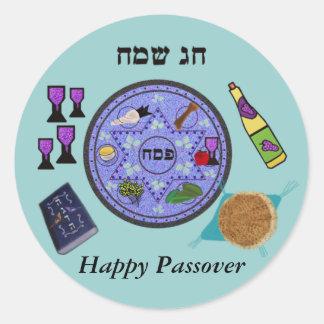 Celebre el Passover Etiquetas Redondas
