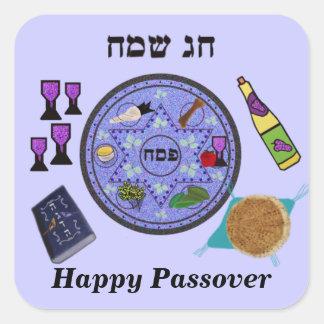 Celebre el Passover Calcomanía Cuadrada