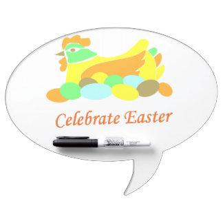 Celebre el pollo de Pascua Tableros Blancos