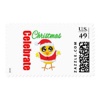 Celebre el polluelo de Santa del navidad