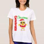Celebre el polluelo de Santa del navidad Camiseta