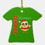 Celebre el polluelo de Santa del navidad Ornamentos De Navidad