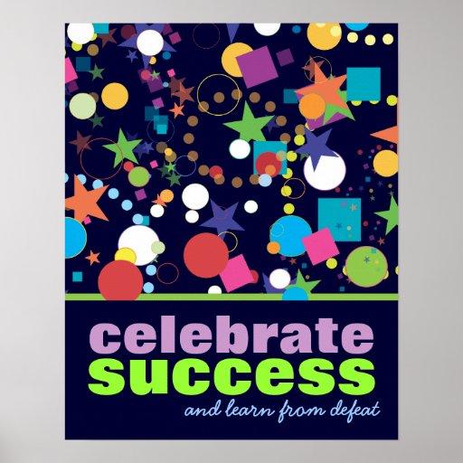 Celebre el poster del éxito